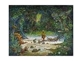 Noah and the Swamp Things Reproduction procédé giclée par Bill Bell