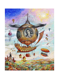 Voyage of the Minerva Giclee Print by Bill Bell