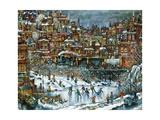 Hockey Train Giclee Print by Bill Bell