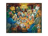 The Poker Club Reproduction procédé giclée par Bill Bell