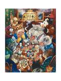Poker Cats Reproduction procédé giclée par Bill Bell