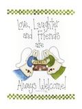 Amor, risas y amigos Lámina giclée por Debbie McMaster