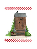 Wooden Outhouse Giclee Print by Debbie McMaster