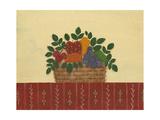 Fruit with Red Tablecloth Reproduction procédé giclée par Debbie McMaster