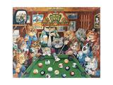 The Hustler (Pool Cats) Reproduction procédé giclée par Bill Bell