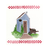 Outhouse with Wheelbarrow Giclee Print by Debbie McMaster