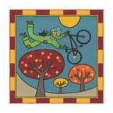 Stitch the Scarecrow Bike 1 Giclee Print by Denny Driver