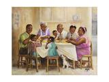 Family Dinner Giclee Print by Dianne Dengel