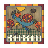 Stitch the Scarecrow Football 1 Giclee Print by Denny Driver