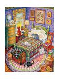 More Bedroom Cats Reproduction procédé giclée par Bill Bell