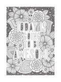 Today is Going to be Awesome Giclée-Druck von Hello Angel