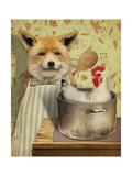 Fox and Chicken Giclée-tryk af  J Hovenstine Studios