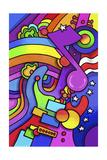 Pop Art Guitar Note Giclee Print by Howie Green