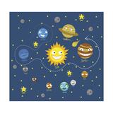 Sistema Solar Impressão giclée por Jimmy Messer