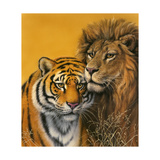 Lion and Tiger Giclee Print by Harro Maass