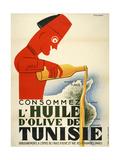 Tunisie Olive Oil Giclée-tryk af Marcus Jules