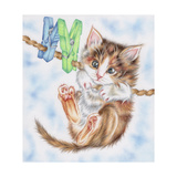Hang in There Kitty Impressão giclée por Karen Middleton