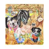 Farm Family Impressão giclée por Karen Middleton
