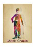 Charlie Chaplin Gicléedruk van Mark Ashkenazi