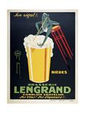 Brasserie Lengrand Giclée-tryk af Marcus Jules