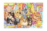 Dressmaker Kitties Impressão giclée por Karen Middleton