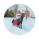 Winter Sleighride Reproduction procédé giclée par Kevin Dodds