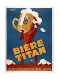 Biere Titan Giclée-tryk af Marcus Jules