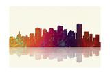 Edmonton Canada Skyline 1 Reproduction procédé giclée par Marlene Watson