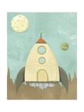 Kids Spaceship Giclee Print by Michael Murdock