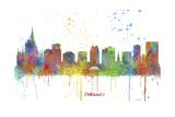 Orlando Florida Skyline MCLR 1 Reproduction procédé giclée par Marlene Watson