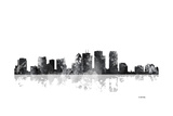Tampa Florida Skyline BG 1 Reproduction procédé giclée par Marlene Watson