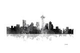 Seattle Washington Skyline BG 1 Reproduction procédé giclée par Marlene Watson