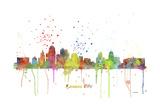 Kansas City Missouri Skyline MCLR 1 Reproduction procédé giclée par Marlene Watson