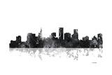 St Paul Minnesota Skyline BG 1 Reproduction procédé giclée par Marlene Watson