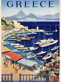 Greece Bay Giclee Print by Marcus Jules
