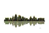 Kansas City Missouri Skyline BW 1 Reproduction procédé giclée par Marlene Watson