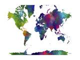 World Map Clr 1 Reproduction procédé giclée par Marlene Watson
