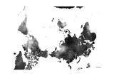 Upside Down Map of the World BG 1 Reproduction procédé giclée par Marlene Watson