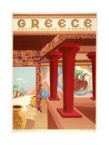 Greece Cnossos Giclée-tryk af Marcus Jules