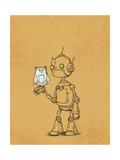 Robot Owl Giclee Print by Michael Murdock
