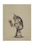 Robot Flower Giclee Print by Michael Murdock