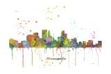 Minneapolis Minnesota Skyline MCLR 1 Reproduction procédé giclée par Marlene Watson