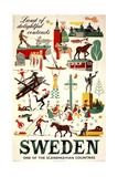 Sweden Travel Giclée-tryk af Marcus Jules