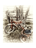 Red Tricycle Giclee Print by Mindy Sommers