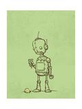 Robot Icecream Giclee Print by Michael Murdock