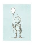 Robot Balloon Giclee Print by Michael Murdock