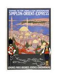 Simplon-Orient-Express Giclée-Druck von Marcus Jules