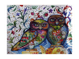 Middle Ages Owls Giclée-vedos tekijänä Oxana Zaika