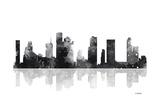 Houston Texas Skyline BG 1 Reproduction procédé giclée par Marlene Watson