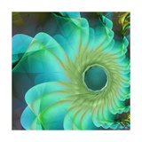 Aqua in Bloom Giclee Print by Mindy Sommers